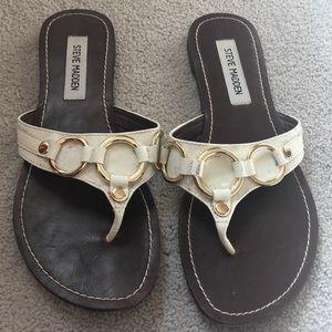 Steve Madden cream & gold sandals